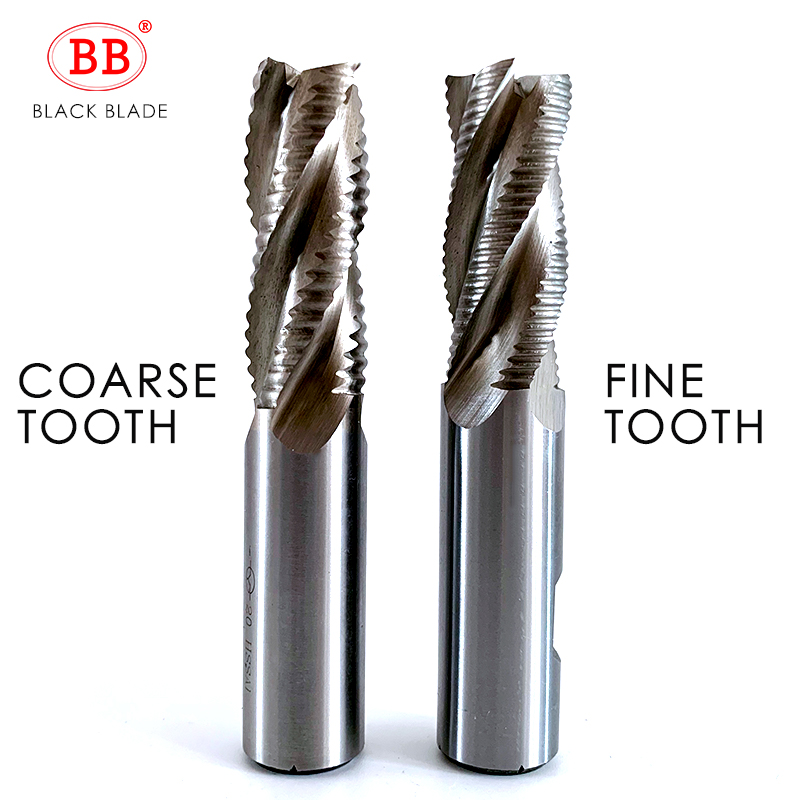 BB Roughing End Mill HSS 3 4 Flute Fine Teeth Pitch Aluminum Rough Machining Finish