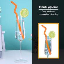 1pc Reusable Colorful Food-grade Silicone Drinking Straws Home Kitchen Party Bar Straws Extra Long Flexible Kitchen Accessories(China)