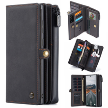 Detachable Wallet Case for Samsung Galaxy Note 20 Leather Case Luxury Magnetic Card Holder