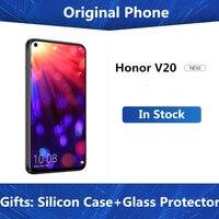 DHL entrega rápida Honor V20 4G LTE teléfono celular Kirin 980 Android 9,0 de 6,4