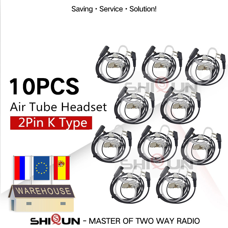 10PCS Accessories Air Acoustic Tube Headset Earpiece For Baofeng For Radio Walkie Talkie Headset For 888S UV-5R UV-82 UV-S9 RT22