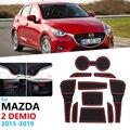 Anti-SLIP ยางประตูถ้วยสำหรับ MAZDA 2 Demio 2015 2016 2017 2018 2019 DJ Mazda2 ประตู groove MAT อุปกรณ์เสริมรถสติกเกอร์