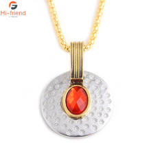 The Avengers Scarlet Witch Chic Necklace Red Stone Pendant Panther Series Accessories Women Men Jewelry
