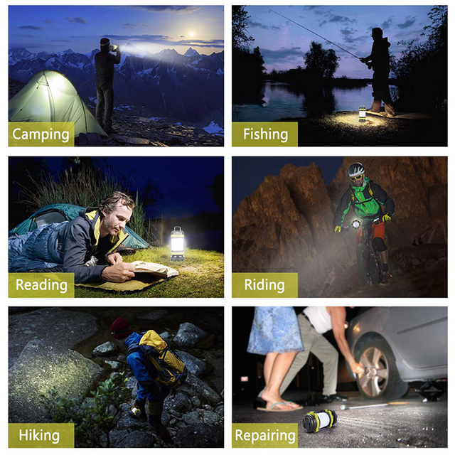 ZK20 Portable LED Camping Light Working Light Outdoor Tent Light   Handheld Flashlight USB Rechargeable Waterproof Search Light 5
