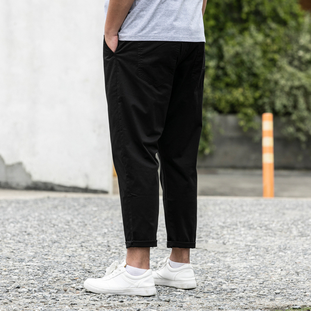 100% Cotton New Pants Man 28-48 Large Size Ankle-Length Harem Trousers Loose Comfortable Classic Causal Daily Clothes