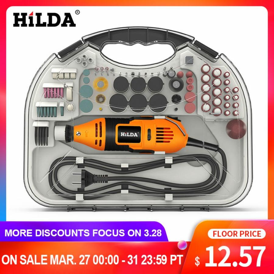 HILDA Electric Mini Drill Dremel Grinder Engraving Pen Mini Drill Electric Rotary Tool Grinding Machine Dremel Accessories