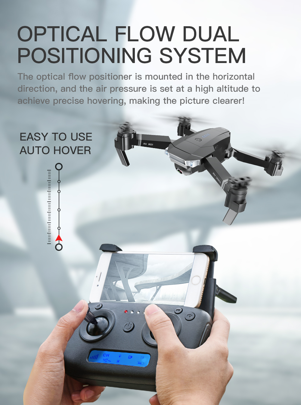 SG901 Drone Optical Flow Positioning