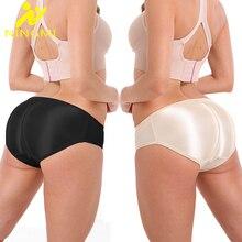 NINGMI Butt Enhancer Low Waist Trainer Shaper Sexy Hip Lifter Big Ass Padded Women Buttom Control Panties Padded Panty Lingerie