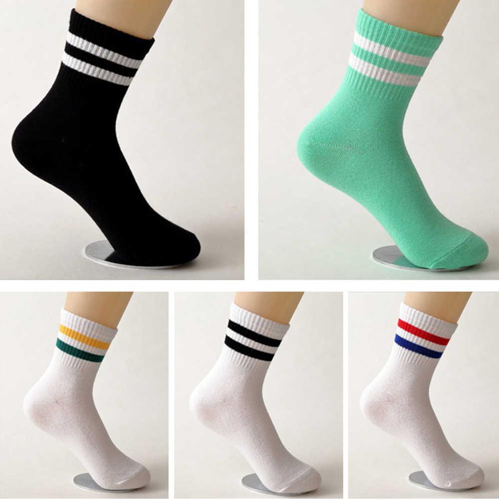 Klassieke Sokken Katoen Twee Bars Gestreepte Trend Paar Katoenen Sokken Lente Zomer Campus Stijl Hip Hop Harajuku Tube Sport Sokken