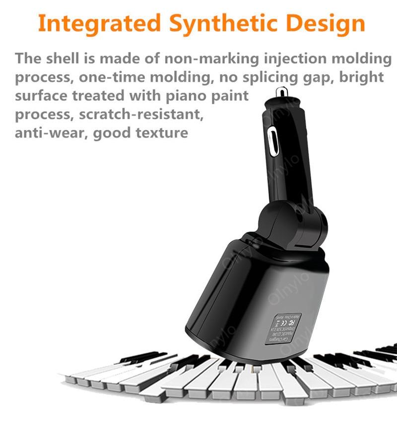 3.1A Autolader Dual Usb Laders Voor Iphone Huawei Samsung Sigarettenaansteker Splitter Plug Accessoire Snel Opladen 4