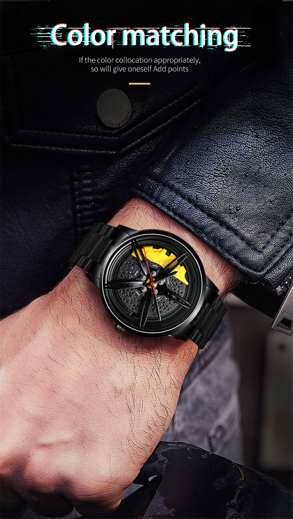 Hf4fa818f376a464a87c108558ae25b7ao 2020 Nektom Men Watch Sports Car Watch Wheel Rim Design Car