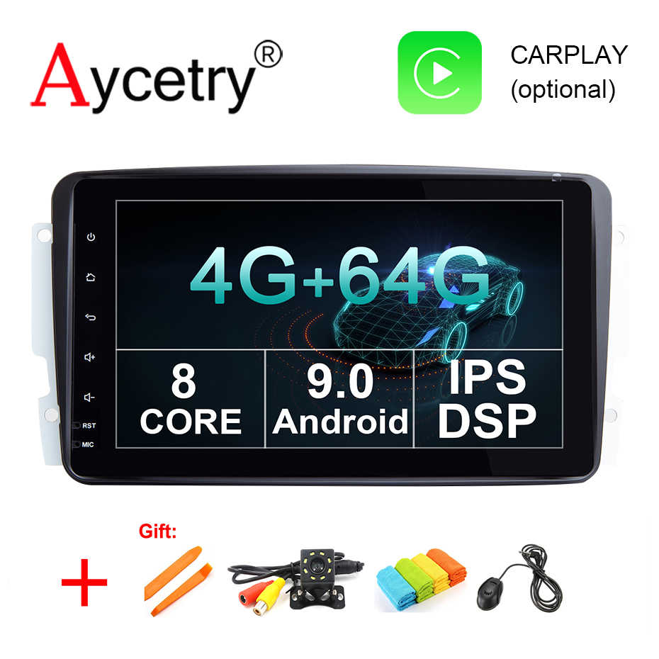 IPS DSP 8 core 4G 64G 2 din Android 9 car multimedia dvd GPS Radio For Benz/Vaneo/A-W168/CLK/W209/W203/W208/W463/Viano/Vito dvr
