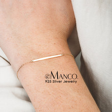 e-Manco 925 Silver Charm Bracelets For Women Romantic Chain Bangles Jewelry Simple & Elegant Fine Accessories Gifts(China)
