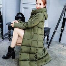 Winter Women Down Jacket Long Hooded Fashion Snow Clothing W