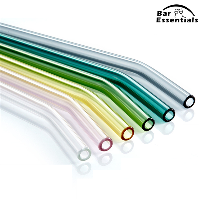Special Fine Curved Reusable Glass Straws 4