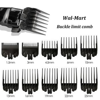 10Pcs/set Black Universal Limit Comb Electric Hair Clipper Caliper Positioning 1.5/ 3/4.5/6/10/13/16/19/22/25mm OPP bag - discount item  1% OFF Personal Care Appliances