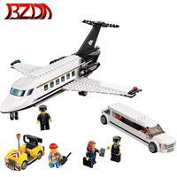 Airport VIP Service city 393PCS Private plane vehicle building block compatible 60102 educational toy pilot figures