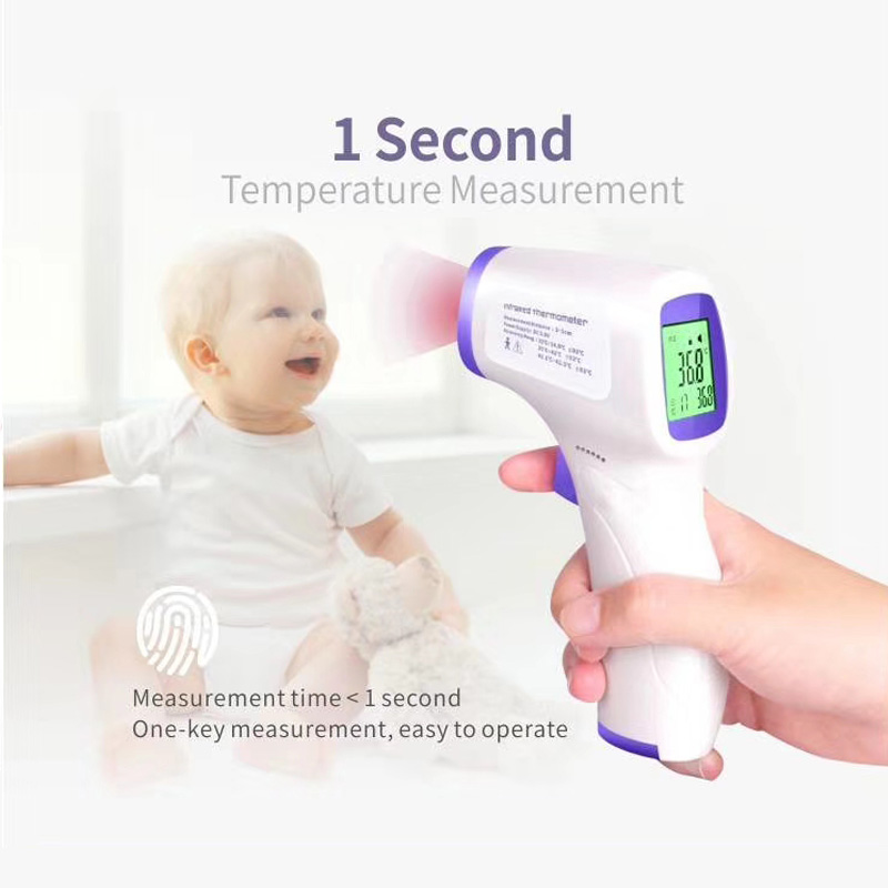 Digital non contact infrared Fever thermometers adult Baby Non-contact Temperature Forehead Body thermometer Measurement Gun