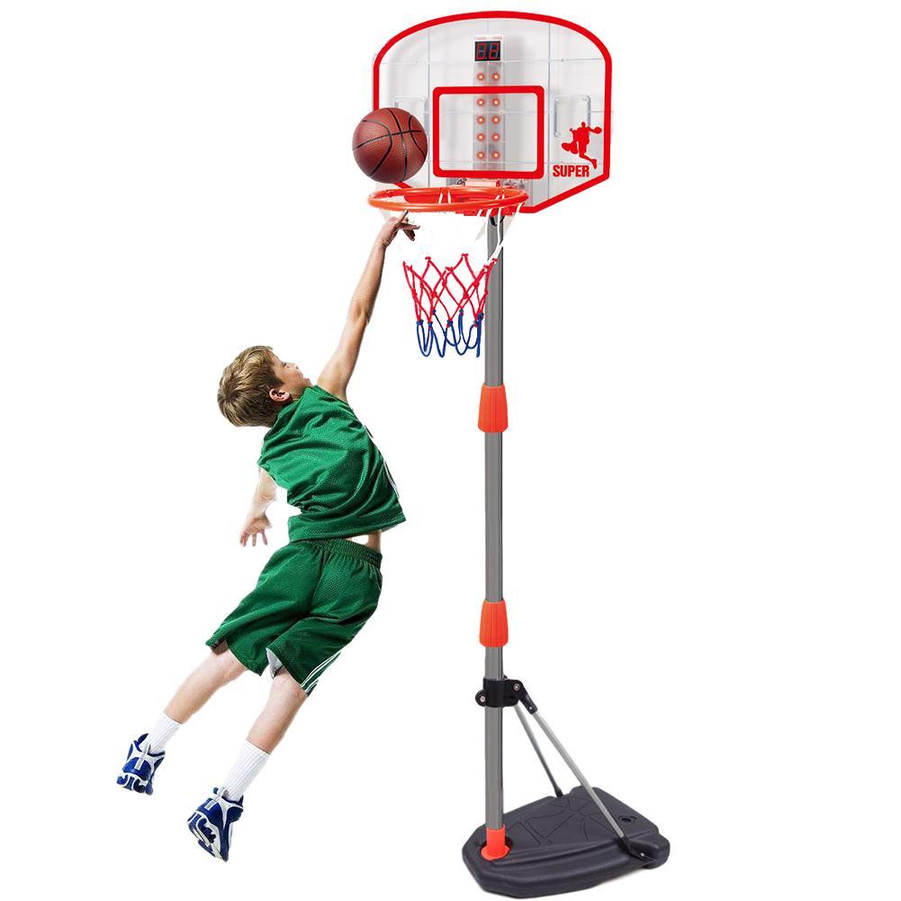 Kids Basketball Hoop Stand 97-170cm Adjustable Basketball Hoop Stand Portable Basketball Hoop Stand With Ball Pump For Children