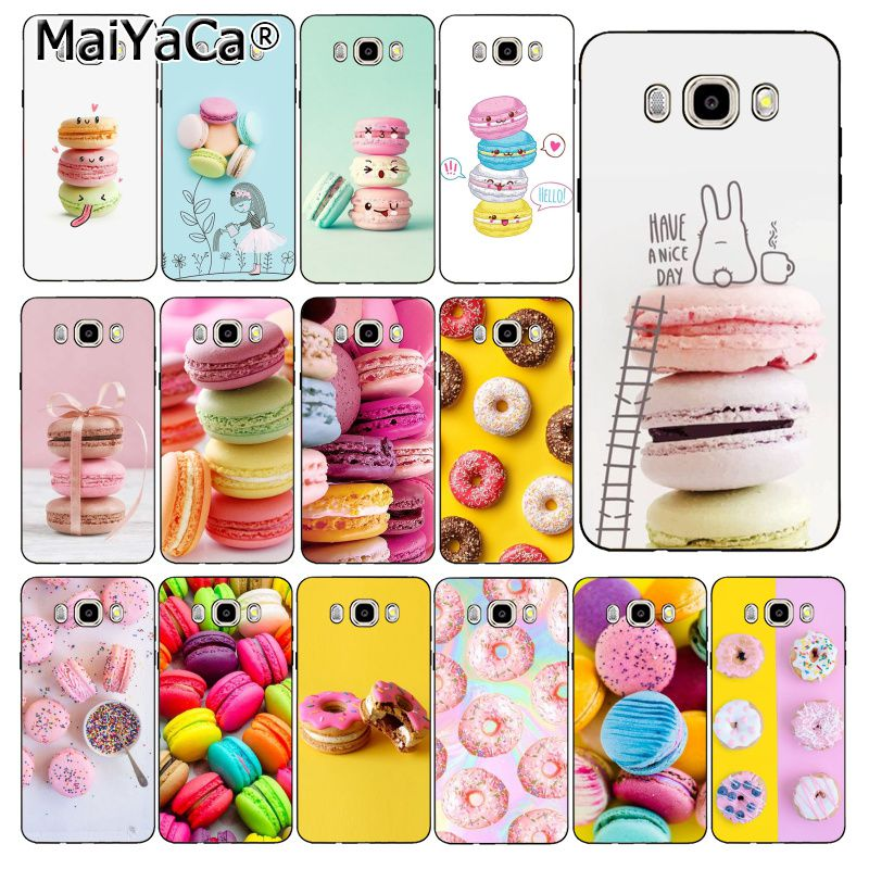 MaiYaCa Colorful Yellow Pink Macarons donut Phone <font><b>Case</b></font> For <font><b>Samsung</b></font> Galaxy J7 J6 J8 J4 J4Plus J7 <font><b>DUO</b></font> J7NEO J2 J7 Prime image