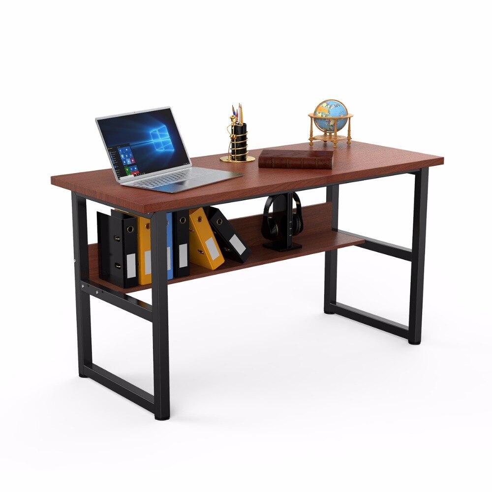 - NEW Office Desk Computer Desk Metal Leg With Bookshelf Study Table