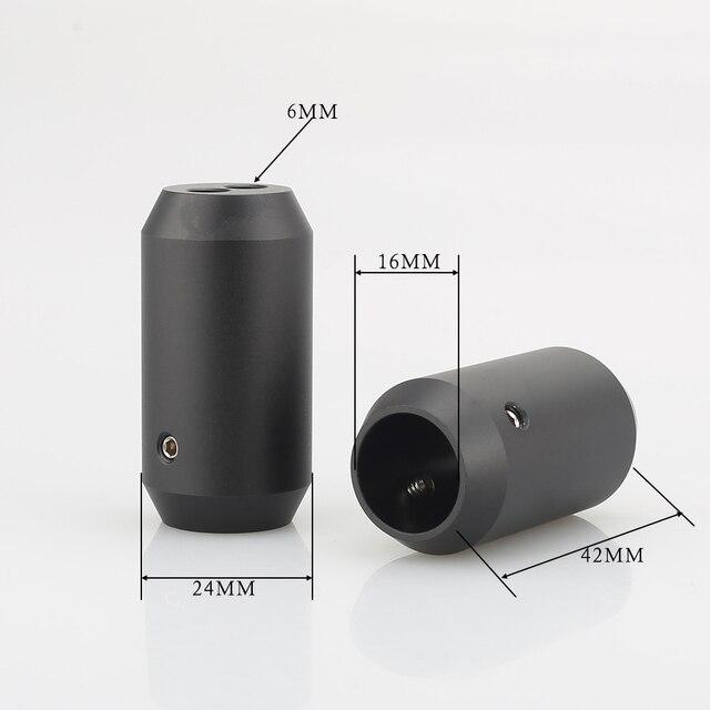 4pcs Hifi אודיו מכנסיים אתחול Y ספליטר 1 עד 2 רמקול RCA כבל אודיו DIY חוט מחבר שחור רמקול כבל חוט מכנסיים מגפיים