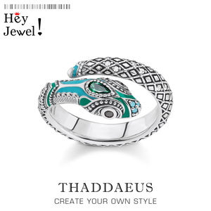 Tropical Mystic Snake Ring,Thomas Style Fashion Good Myth Jungle Jewerly For Women,2020 Ts Bohemia Gift In 925 Sterling Silver(China)