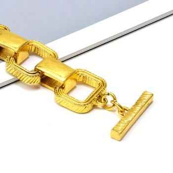 Statement Gold Metal Square Trend Bracelet 5