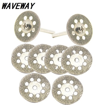 Dremel 20mm 25mm 30mm  Accessories diamond grinding wheel 10pcs mini circular saw cutting disc Diamond Abrasive disc цена 2017