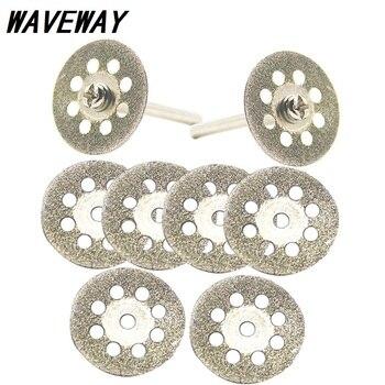 цена на Dremel 20mm 25mm 30mm  Accessories diamond grinding wheel 10pcs mini circular saw cutting disc Diamond Abrasive disc