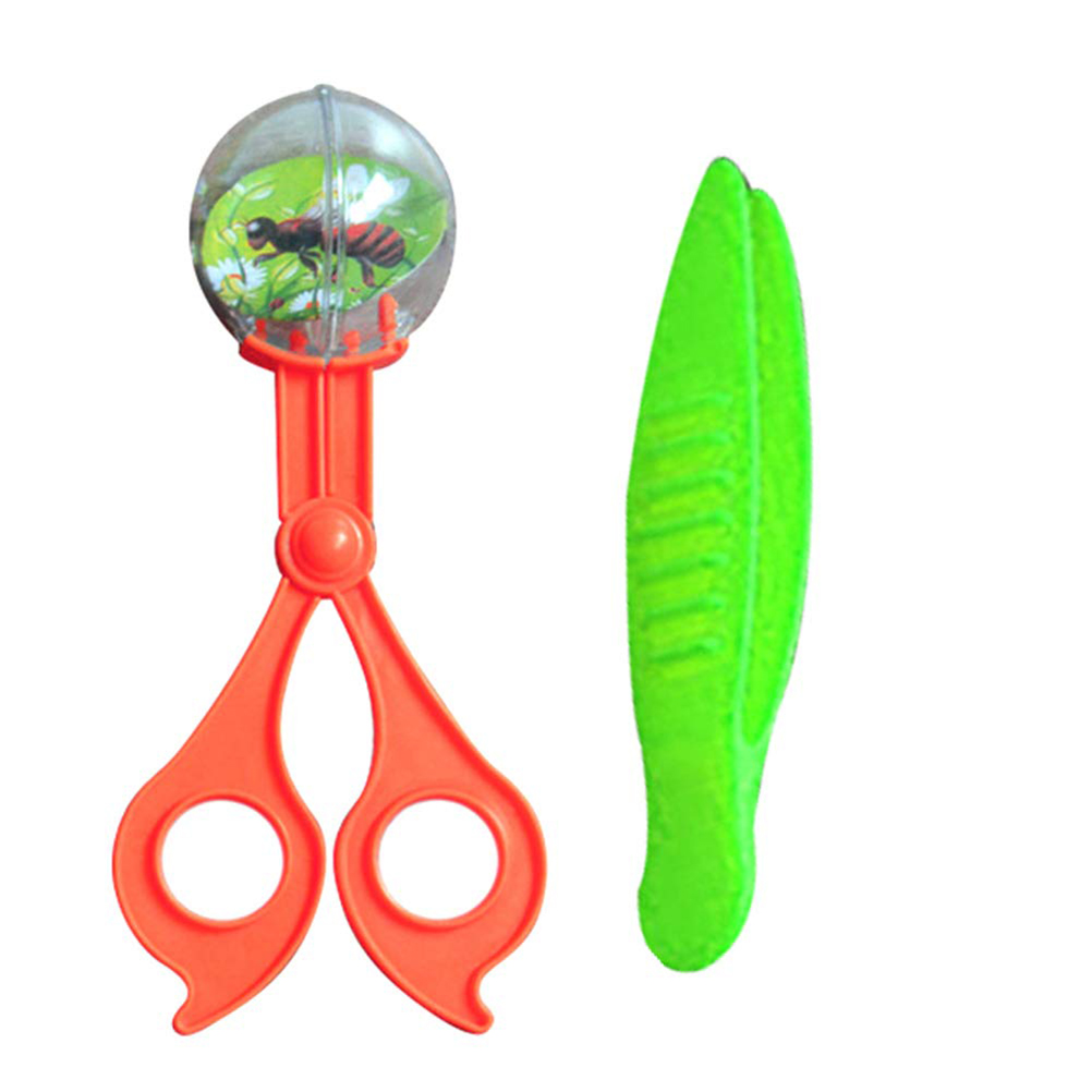 2 Pcs Plastic Bug Insect Catcher Scissors Tongs Tweezers Set For Kids Children Toy Handy Science And Education Equipment