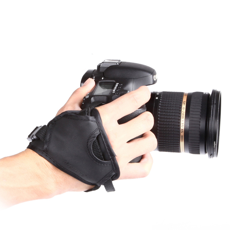 Micnova Leather Hand Strap Wrist Grip Belt Holder Screw Hole For Canon EOS Nikon Sony Digital DSLR SLR Camera Bag Accessories