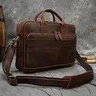 MAHEU мужской портфель, натуральная кожа, сумка для ноутбука, 15,6 дюймов, PC, сумка для компьютера, сумка для компьютера, Воловья кожа, мужской портфель, коровья кожа, мужская сумка - 3
