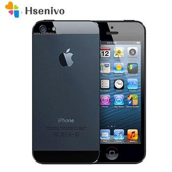 100% fábrica desbloqueado Original Apple Iphone 5 teléfono celular 16GB 32GB ROM de 16GB 32GB 64GB IOS 4,0 pulgadas 8MP WIFI GPS se refurbished