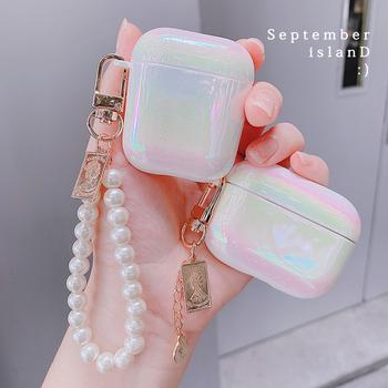 3D śliczne gruszka bransoletka Shell brelok Rainbow twarde słuchawki słuchawki case dla apple airpods 1 2 3 pro bezprzewodowy zestaw słuchawkowy pokrywa tanie i dobre opinie CN (pochodzenie) Torby for airpods 1 2 Z tworzywa sztucznego