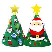Artificial Christmas Tree Mini DIY Felt Christmas Tree New Year Gift Toldder Kids Merry Christmas Party School Educational Toys