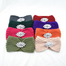 1Pcs Women Knitted Headbands Women Winter Warm Crochet Head Wrap Wide Hair Handband with Accessories Hair bands for Lady New