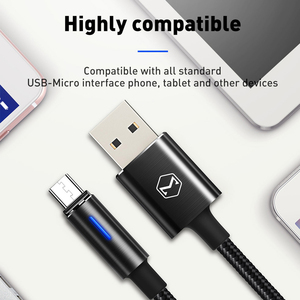 Image 5 - 10 יח\חבילה Mcdodo מיקרו USB כבל 2A לסמסונג גלקסי S9 בתוספת Huawei QC3.0 מהיר טעינה אוטומטי ניתוק USB מטען נתונים כבל