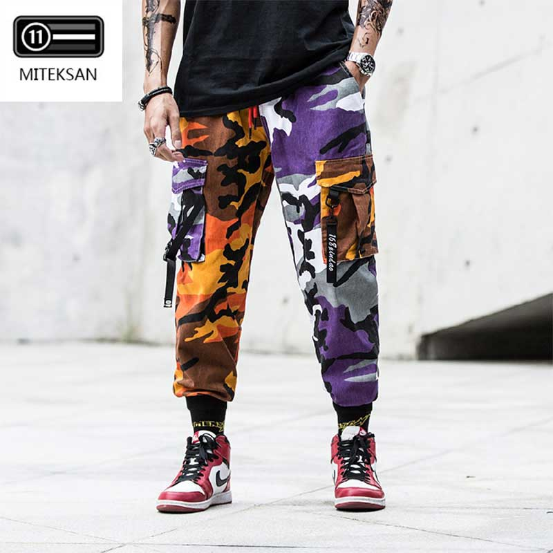 New Joggers Cargo Pants Men Streetwear Camouflage Fashions Hip Hip Korean Trousers Casual Plus Size Cp Pants Pantalones Hombre