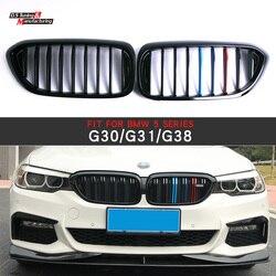 1-listwy ABS z tworzywa sztucznego z przodu wyścigi maskownica do BMW serii 5 G30 G31 G38