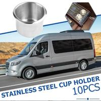 10pcs Stainless Steel Cup Drinking Holder for Marine Boat RV Car 9x5.5cm