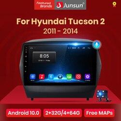 Junsun 4G+64G Android 10 For ix35 Hyundai Tucson 2 2009 - 2015 Auto 2 din Car Radio Stereo Player Bluetooth GPS No 2din dvd