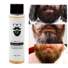 30ml óleo de barba orgânica homem barba crescimento óleo amaciar o crescimento do cabelo nutritivo realçador barba bigode óleo leave-in condicionador cuidados