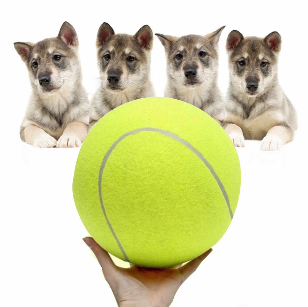 Bola de tenis de goma juguete playa mascota juguete deportes al aire libre divertido tenis perro masticar juguete respetuoso con el medio ambiente perro juguete # num