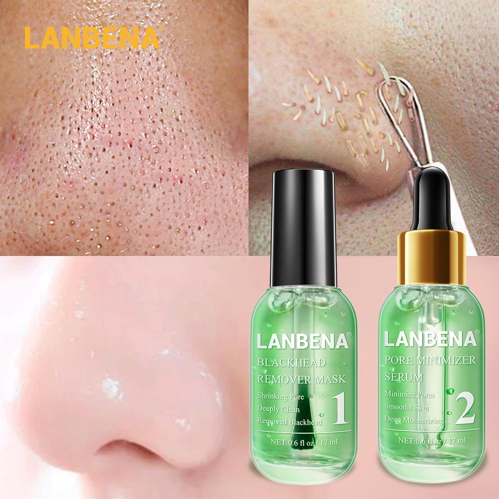 LANBENA средство для удаления угрей зеленого чая маска для носа полоска пор пилинг лечение акне Уход пор минимайзер уход за кожей с сывороткой|Сыворотка|   | АлиЭкспресс