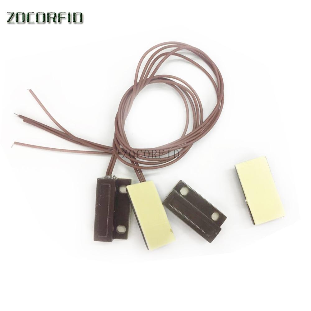 (1 Pair) Wired Door Window Sensor Magnetic Switch Home Alarm System N.C Type