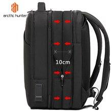 شنطة ظهر رجالي محمولة 15.6 بوصة من القطب الشمالي هنتر مع منفذ USB للشحن متعددة الطبقات عالية السعة حقيبة سفر حقائب ظهر جديدة لعام 2020