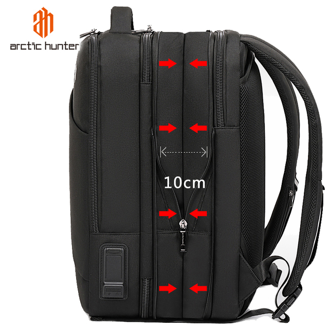 ARCTIC HUNTER Brand Male 15.6 inch Laptop Backpack Man USB Recharging Multi layer High capacity Travel Bag backpacks 2020 New