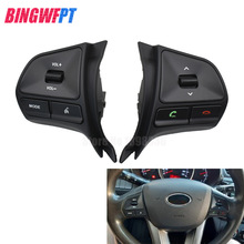 Car styling for KIA RIO 2011-2014 multifunctional steering wheel control button Audio phone volume switch for bluetooth