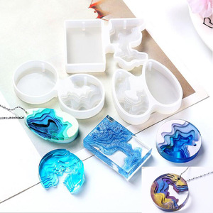 Transparent Silicone Mould Dried Flower Resin Decorative Craft DIY splice Island mountain Mold epoxy resin molds for jewelry(China)